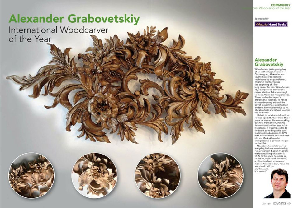 Best Wood Carver in the World Alexander Grabovetskiy
