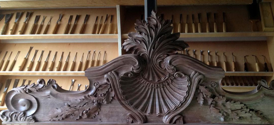 Architectural reproduction of wood carving by master